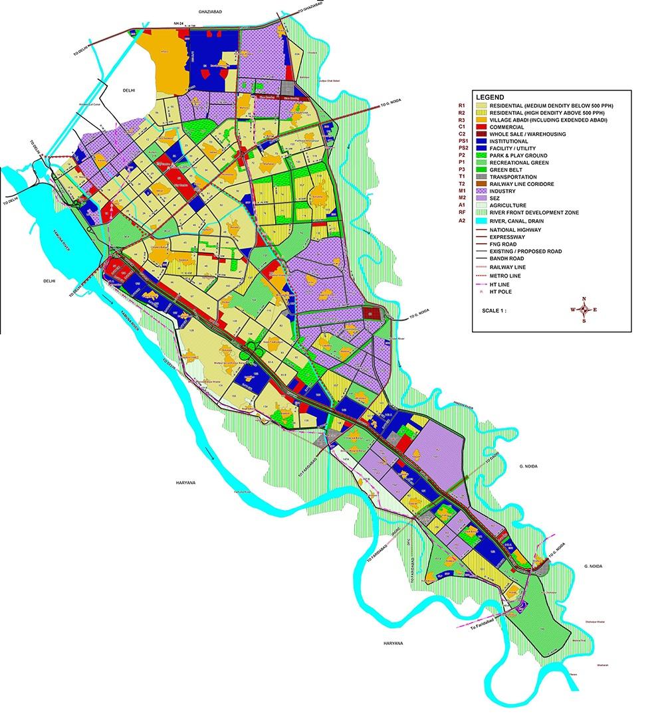 Map of Noida